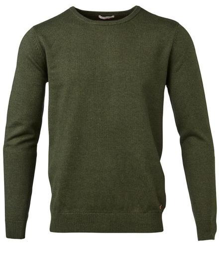 Knowledge Cotton Apparel Basic O-Neck Cotton/Cashmere - GOTS rifle green | M