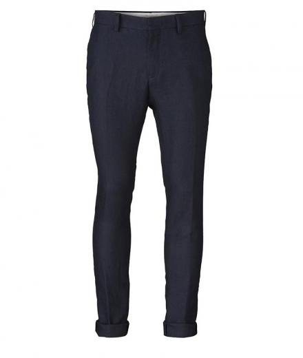 Knowledge Cotton Apparel Linen Pant Dark Blue | 50/87