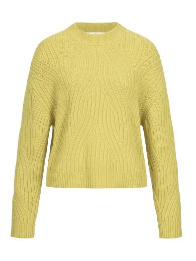 LANIUS Pullover mit Rippenzopfmuster neon yellow