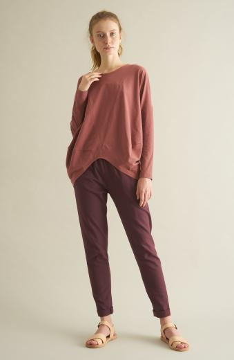 CUS Loose Burgundy Top S | burgundy