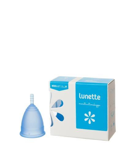 Lunette Menstruationskappe Selene blau Modell 2