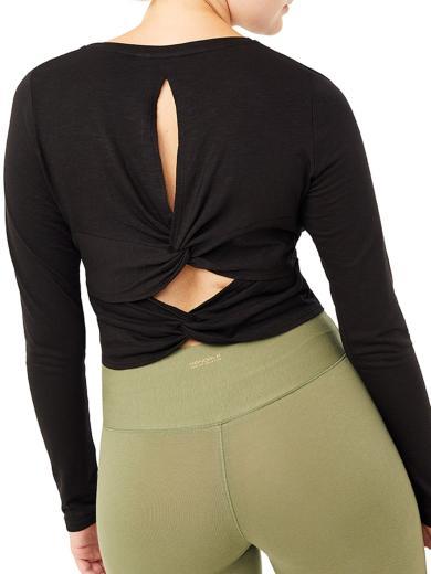 MANDALA Cross Back Shirt black