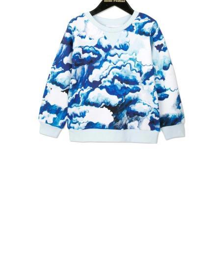 Mini Rodini Clouds AOP Sweatshirt 104/110