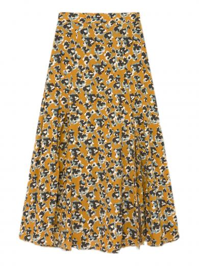 Thinking MU Molopo Skirt abstract flowers
