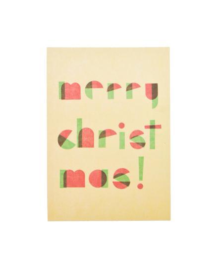 MOZAÏQ Postkarte Merry Christmas