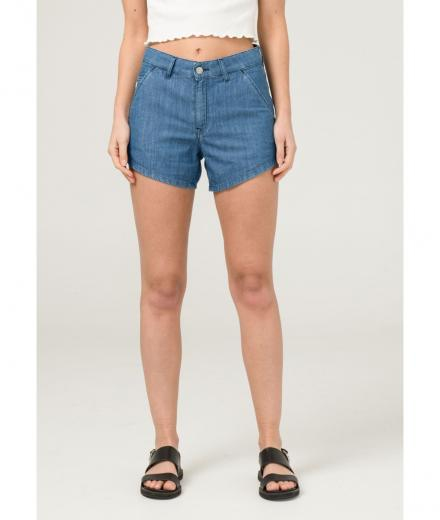 MUD JEANS Ivy Short pure blue | S