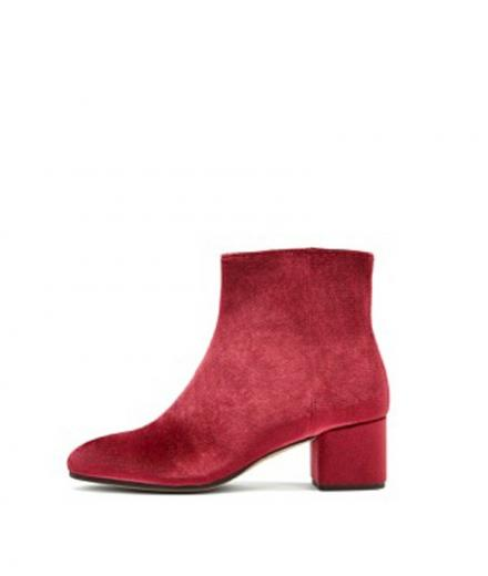 NINE TO FIVE Ankle Boot #Strand red velvet | 40