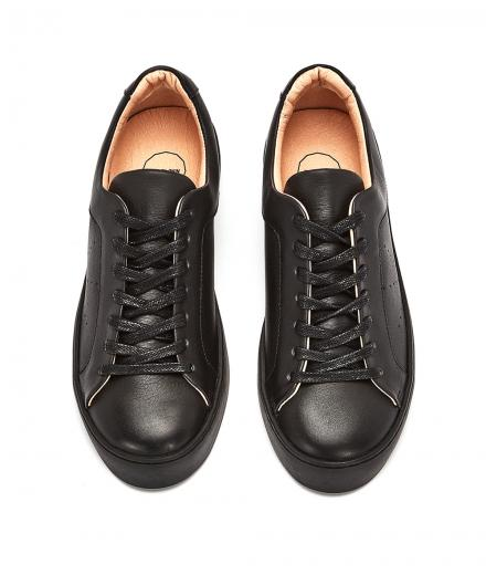 NINE TO FIVE Laced Sneaker #Gracia Black star | 39