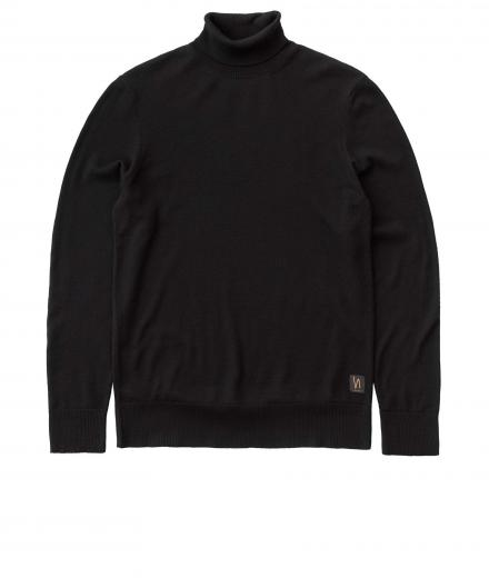 Nudie Jeans Cornelis Roll Neck black