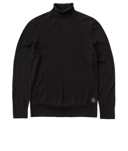 Nudie Jeans Cornelis Roll Neck black | M