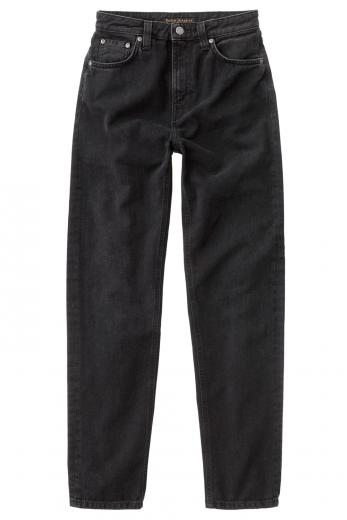 Nudie Jeans Breezy Britt black worn