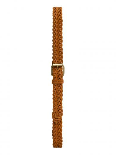 NUDIE JEANS Brett Belt Braided cognac