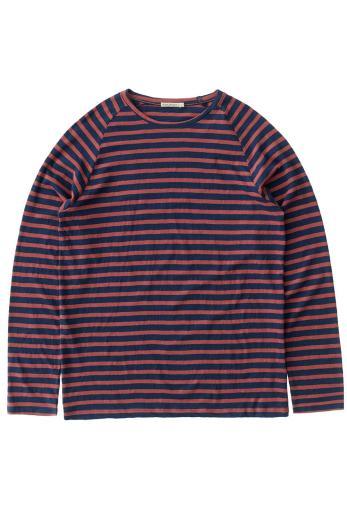 Nudie Jeans Otto Breton Stripe blue / dusty