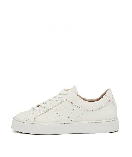 NINE TO FIVE Laced Sneaker #Boi white star