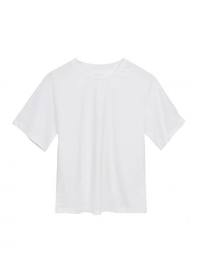 NINE TO FIVE Boxy Tee #BODEN white