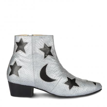 NINE TO FIVE High Bootie Star silver moon