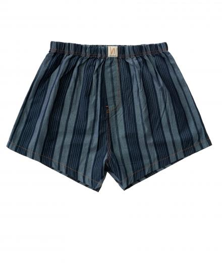 Nudie Jeans Boxers Chambray Bolster Stripe