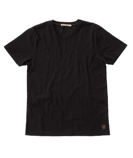 Nudie Jeans O-Neck Tee Black | XL