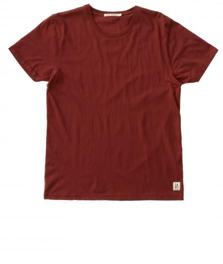 Nudie Jeans O-Neck Tee burnt red | XL