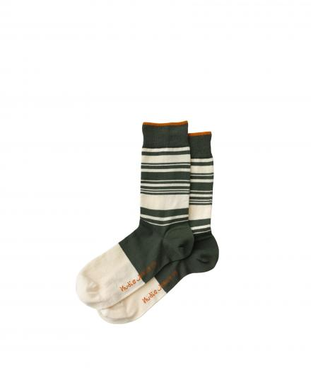 Nudie Jeans Olsson Stripes Socks Mirage