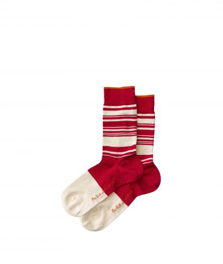 Nudie Jeans Olsson Stripes Socks Red