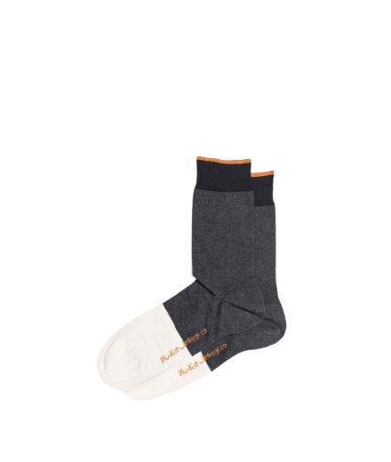 Nudie Jeans Olsson Toe Panel Socks Dark Grey