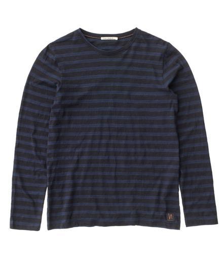 Nudie Jeans Orvar Block Stripe blackblue