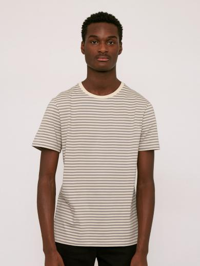 Organic Basics Organic Men`s Tee Grey Stripe
