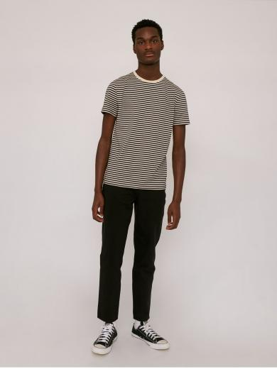 Organic Basics Organic Men`s Tee Navy Stripe