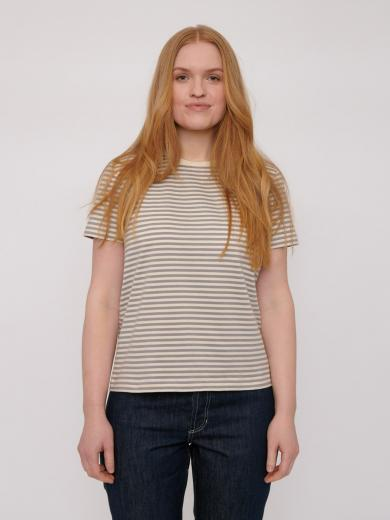 Organic Basics Organic Women´s Tee Grey Stripe