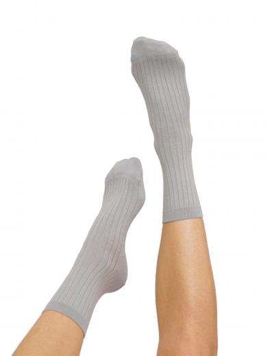 Organic Basics Rib Socks 2-pack Cloudy Blue