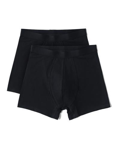 Organic Basics Organic Cotton Boxers Briefs 2-pack Black
