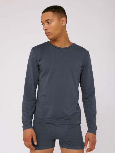 Organic Basics SilverTech™ Active Langarmshirt Sea Blue