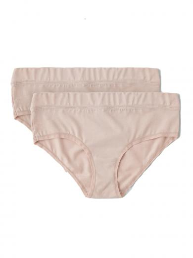 Organic Basics Organic Cotton Bikini Briefs 2-pack Rose Nude