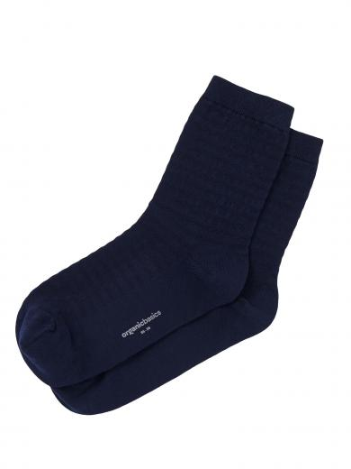 Organic Basics Organic Cotton Gestreifte Socken 2-Pack Navy