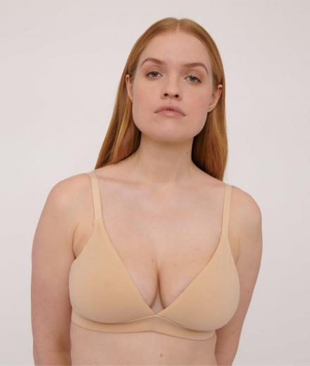 Organic Basics Organic Cotton Triangle Bra oak