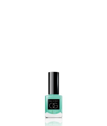 Organic Glam Nail Polish Aqua