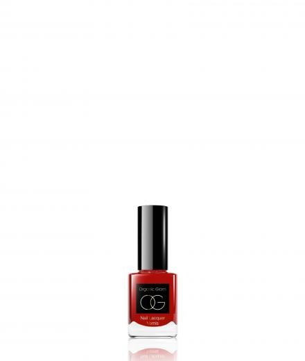 Organic Glam Nail Polish Red