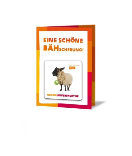 OxfamUnverpackt Schaf
