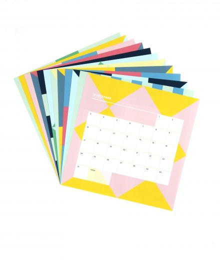 Papier Tigre Calendar Pose-Temps