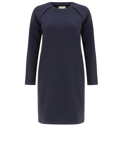 People Tree Marcia Fleece Dress Dark Blue Melange