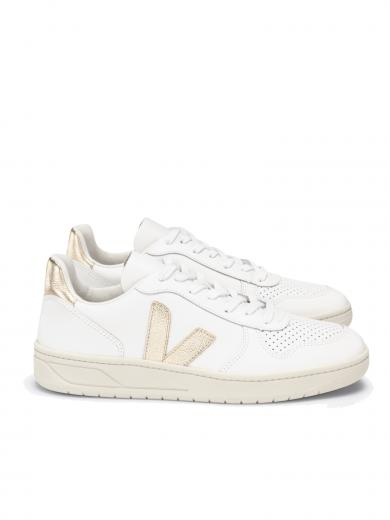 VEJA V-10 Leather Extra White Platine