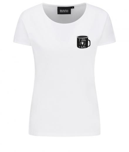 recolution Casual T-Shirt #I LIKE YOU white
