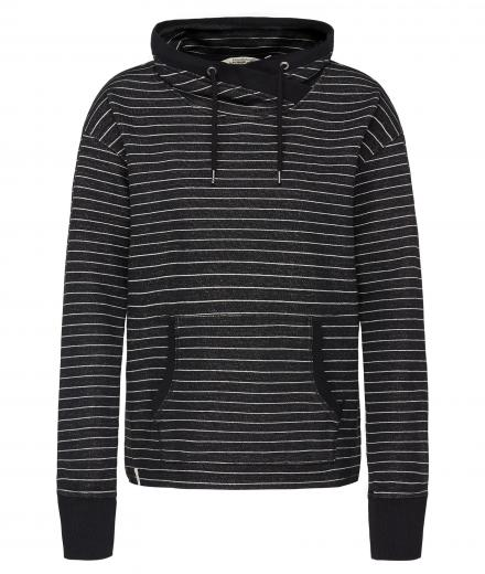 recolution Sweatshirt Women Overlap #STRIPES black grey | S