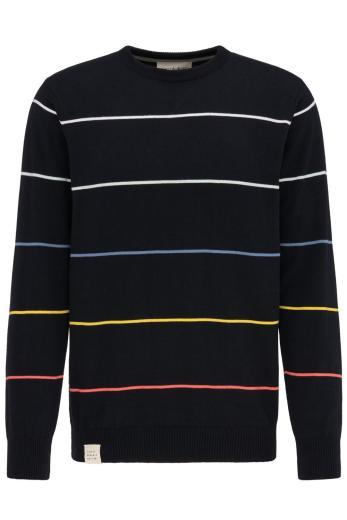 Knit Crew Neck #STRIPES Navy striped | L