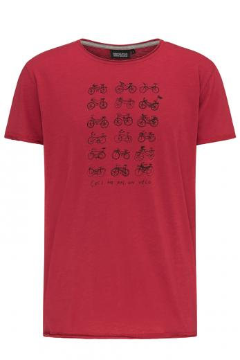recolution Casual T-Shirt #VELO deep red