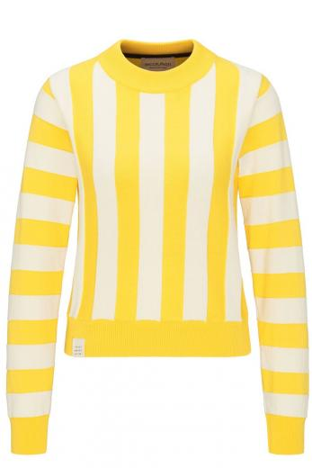 Knit Crew Neck #STRIPED sunflower/sand