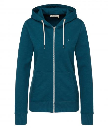 recolution Sweatjacke Basic deep teal | M