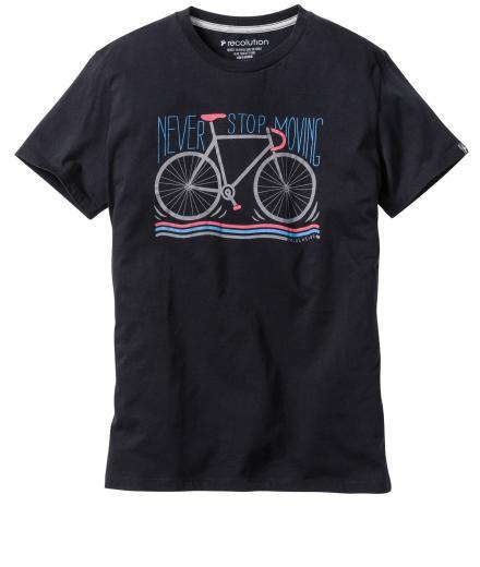 recolution T-Shirt Basic #Never Stop Schwarz | M