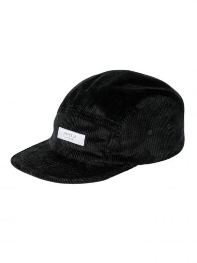 Rotholz Label Cord 5-Panel Bio Cap Schwarz